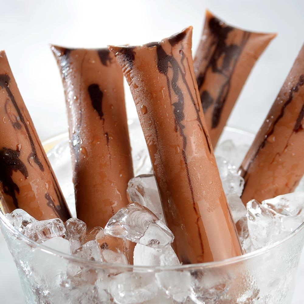 Geladinho gourmet de chocolate