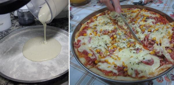 Pizza de Liquidificador fácil (Receita saborosa)