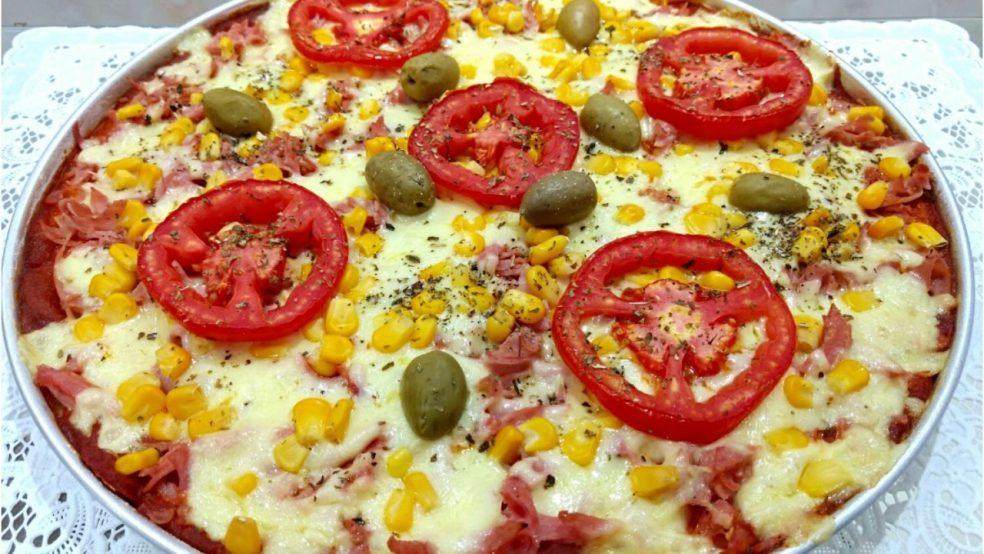 Pizza de liquidificador prática (Receita maravilhosa)