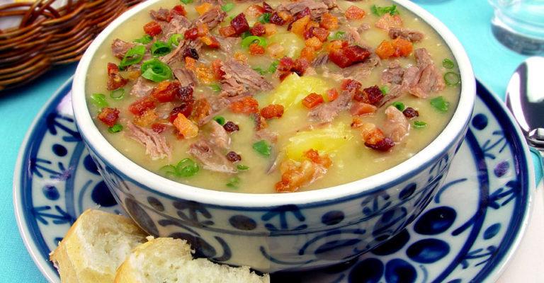 Sopa de Mandioca com músculo e bacon (Receita maravilhosa)