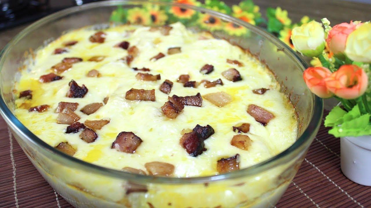 Mandioca de Forno gratinada com Bacon: Receita prática e saborosa!