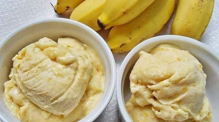 Sorvete caseiro de Banana e Maçã Fitness (Receita maravilhosa)