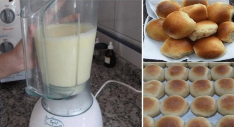 Pãozinho de liquidificador fácil (Receita maravilhosa)