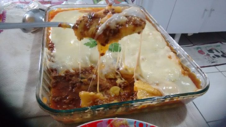 Polenta com carne moída: Receita fácil e deliciosa!