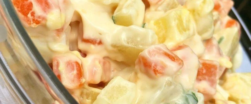Salada de Maionese caseira: Receita simples e deliciosa!