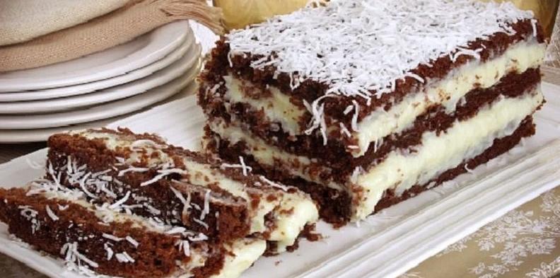 Bolo Gelado de Coco e Chocolate: Receita maravilhosa!