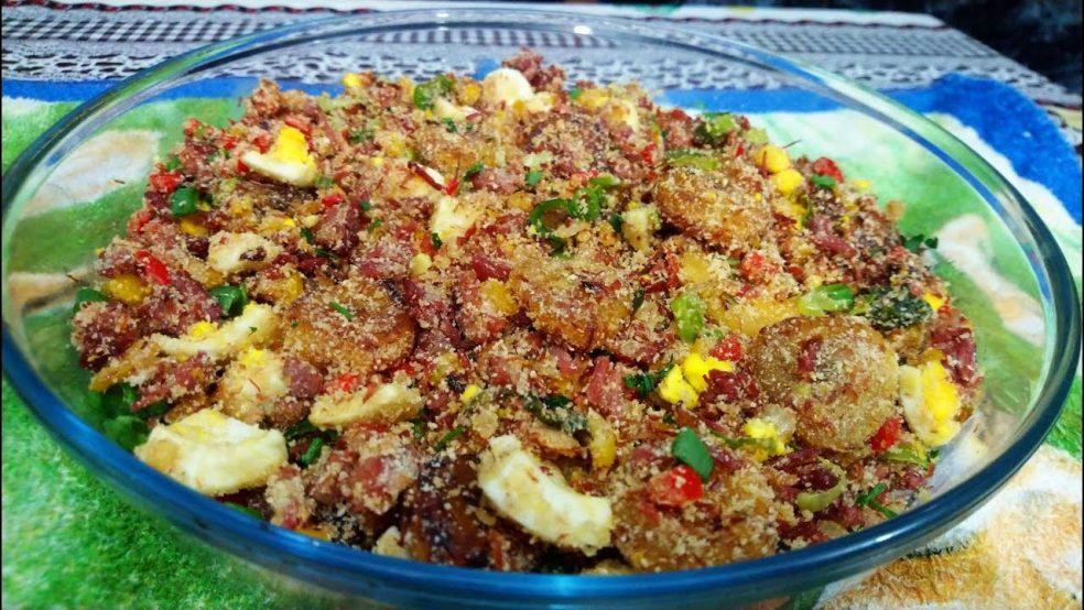 Farofa com Carne-Seca: Receita prática e deliciosa!