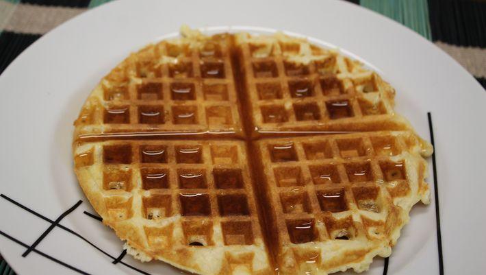 Receita de Waffle simples