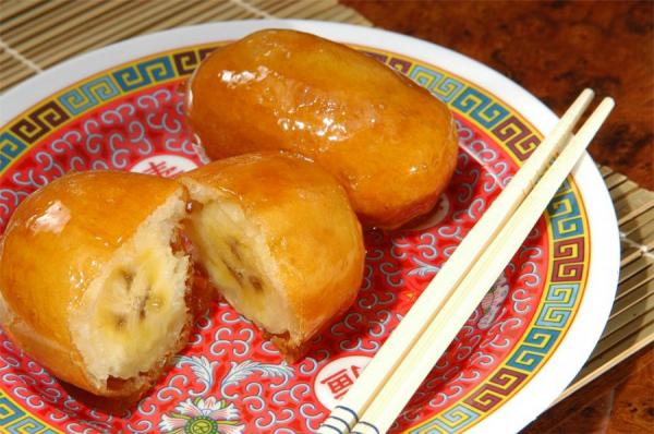 Banana caramelada chinesa