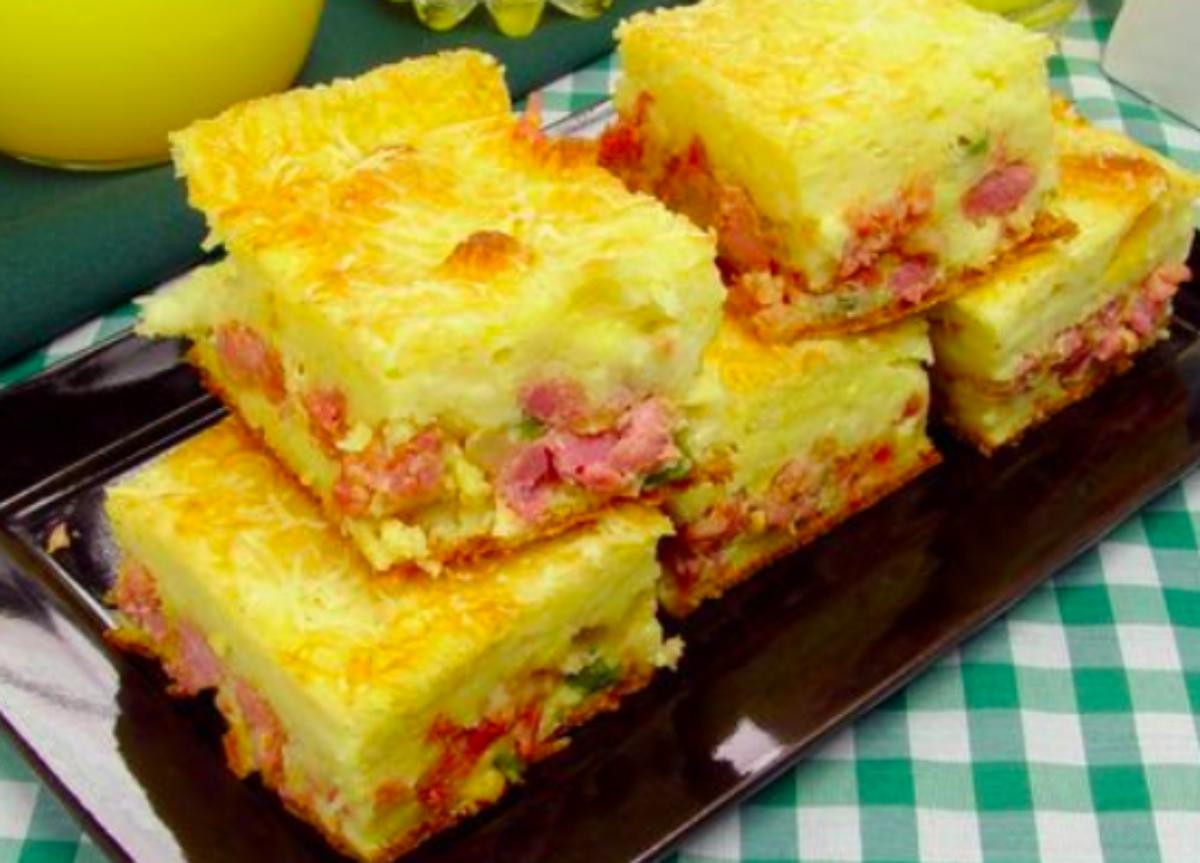 Torta de Mandioca com Linguiça: Receita prática e saborosa!